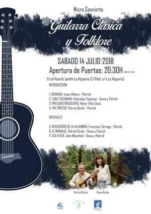Microconcierto de guitarra clásica y folklore en el Huerto Jardín de La Alquería