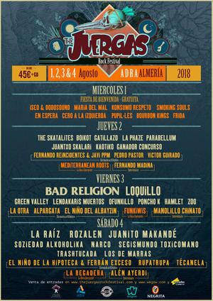 Loquillo, Bad Religion Rozalén y La Raíz en The Juergas Rock Festival