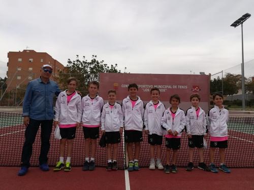 El benjamín masculino del Club de Tenis Aguadulce, campeón de Andalucía por equipos de club en primera división