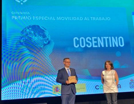 La estrategia de movilidad sostenible de Cosentino, premiada en I Edición de los Premios Nacionales de Movilidad