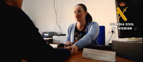 La Guardia Civil detiene al autor de malos tratos a su pareja menor en Berja