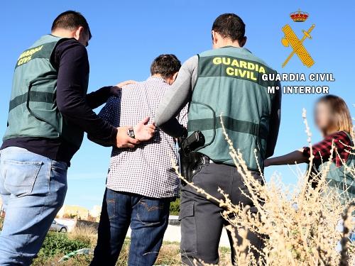 La Guardia Civil detiene al autor de un delito de lesiones en El Ejido