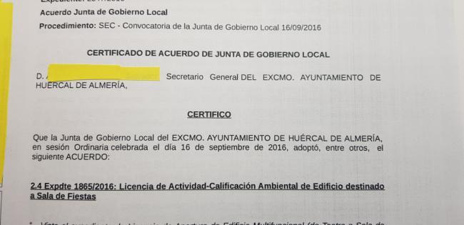 El Edificio Multiusos de Huércal de Almería sí tiene licencia