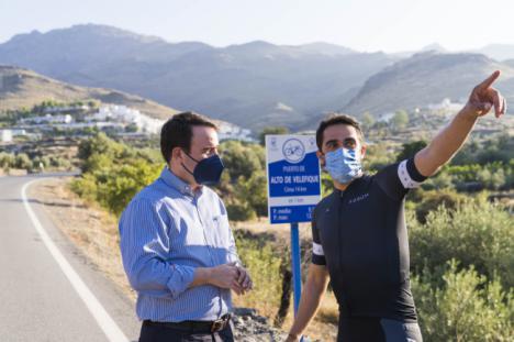 Contador y Eurosport ruedan un documental sobre el Puerto de Velefique