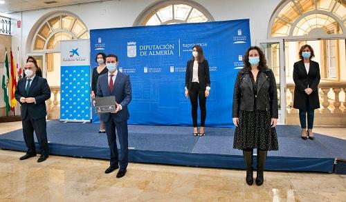Diputación, Ayuntamiento de Almería y Fundación 'la Caixa' contra la brecha digital entre familias sin recursos