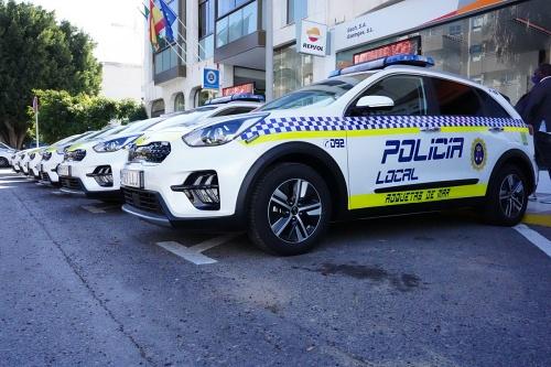 Siete modernos vehículos para la Policía Local de Roquetas de Mar