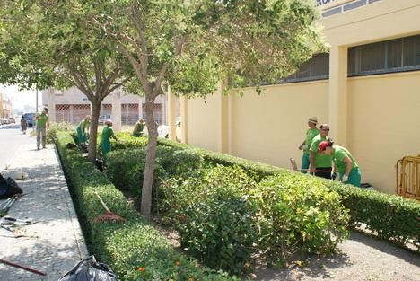 El Ayuntamiento de Vícar pone a punto plazas y jardines para el disfrute estival