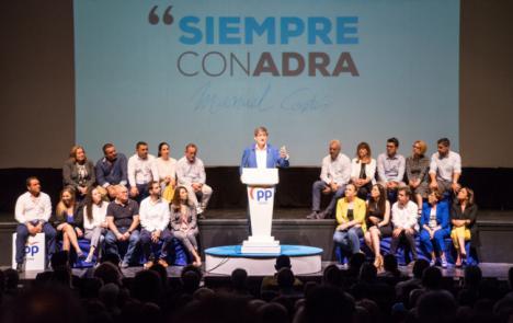 El PP provincial se vuelca con el candidato de Adra