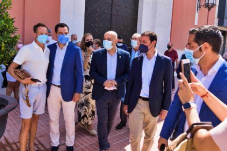 El presidente de Diputación agradece la visita del Presidente de la Junta de Andalucía a Almería
