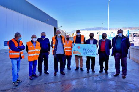 Donación de 25.000 euros de Andamur en Roquetas de Mar al Banco de Alimentos