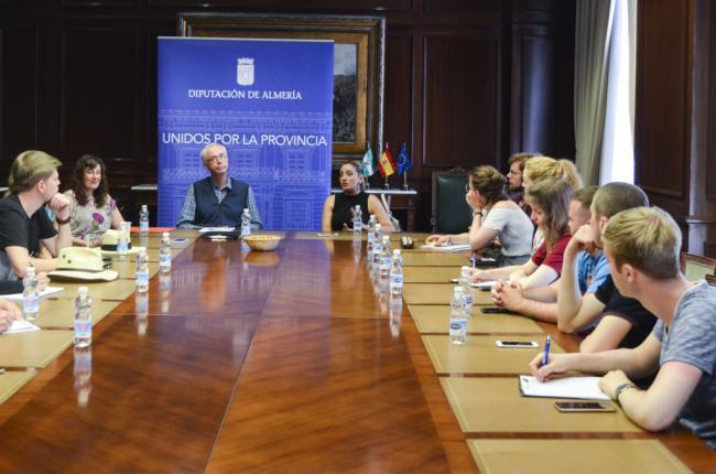Alumnos de la Universidad alemana RWTH-Aachen interesados por 'Sabores Almería'