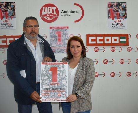 CCOO Y UGT presentan el manifiesto del 1 Mayo