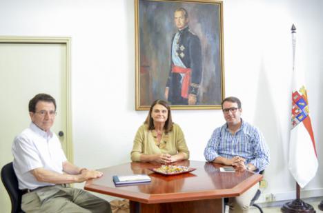 Reunión de la Diputación con la Fundación Manuel Falces