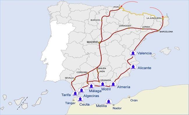 El Paso del Estrecho marca un incremento de pasajeros con Melilla y bajada en otros destinos
