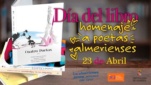 Diputación celebra el Día del Libro con un homenaje virtual a los poetas almerienses