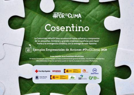 """Cosentino entre los """"101 Ejemplos Empresariales de Acciones #PorElClima 2020"""""""