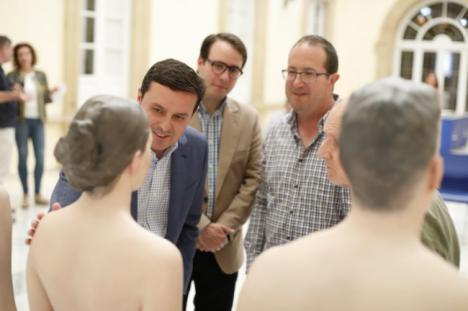 El futuro Museo del Realismo del Hospital Provincial recibe las cuatro primeras esculturas