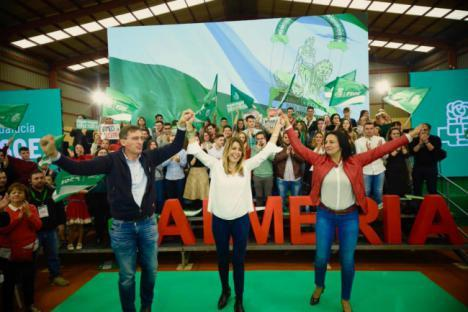 Susana Díaz acusa en Cantoria al PP de querer mutilar la autonomía andaluza
