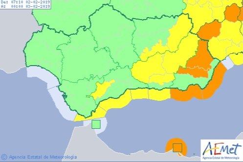 Almería registra el 10% de avisos al 112 por el temporal
