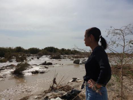 La presidenta del Parlamento visita las zonas de Almería afectada por DANA
