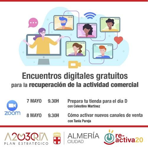 Ayuntamiento y Plan Estratégico Almería 20/30 lanzan dos encuentros digitales gratuitos
