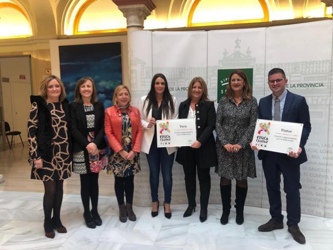 Distinguidos con los Premios Educaciudad Vera y Viator