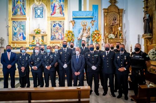 Felicitación en Roquetas a la Policía Local y Protección Civil en el día de los Ángeles Custodios