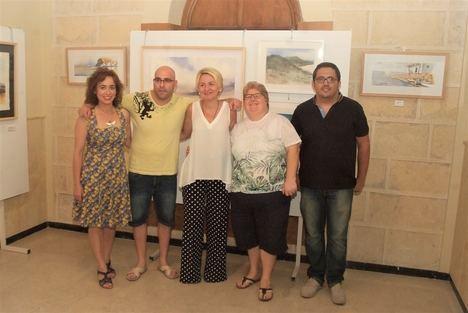 Dory Ruiz, María Ángeles Jiménez, Juan Antonio Maldonado y Antonio Caballero exponen sus acuarelas en el Faro de Roquetas