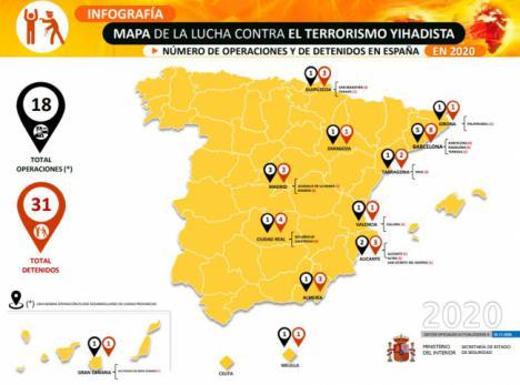 En Almería han sido detenidos tres 'yihadistas' en lo que va de año