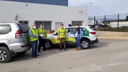 Protección Civil entrega mascarillas al Consorcio Almanzora-Levante-Vélez