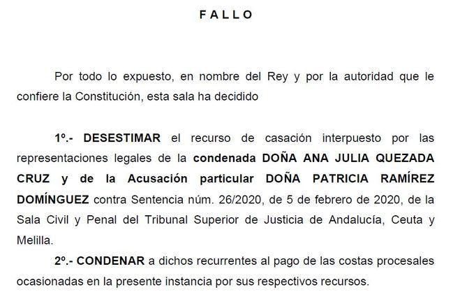Confirman la condena de Ana Julia Quezada por el asesinato de Gabriel