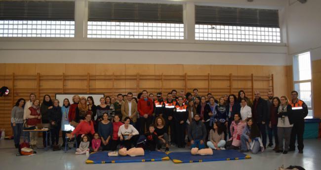 El Ayuntamiento de Níjar lleva la formación en emergencias al Colegio La Libertad de Campohermoso