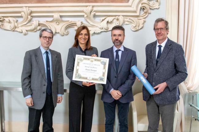 Manuel Berenguel recibe el título 'Honorary Visiting Professor' de la Universidad de Brescia