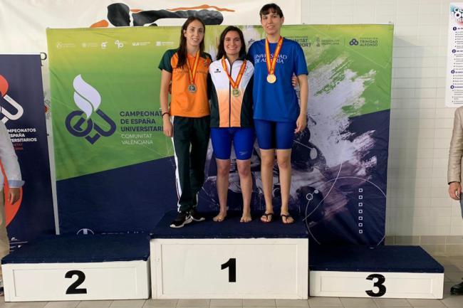 Rosana Vita y Juanma Fernández elevan a cinco las medallas de la UAL en los CEU