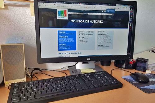 'Monitor de Ajedrez' inicia el Programa de Formación 'COVID free' de UAL Deportes