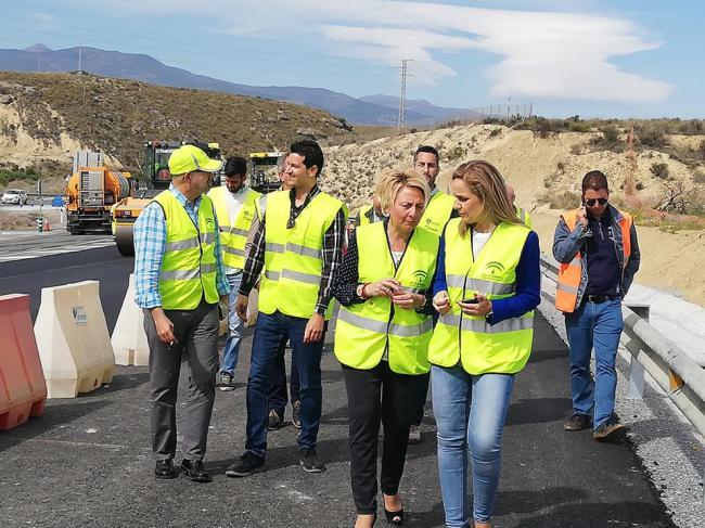 Las obras de mejora en la A-334 de acceso a Cantoria finalizarán la próxima semana