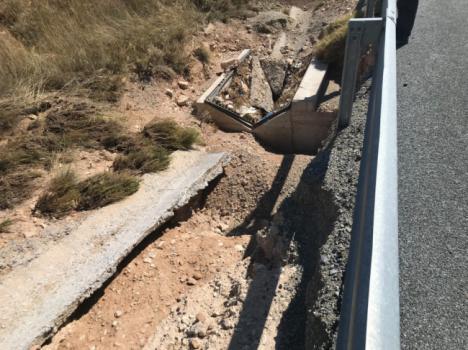 Obras de reparación de daños del temporal de agosto en la A-92N