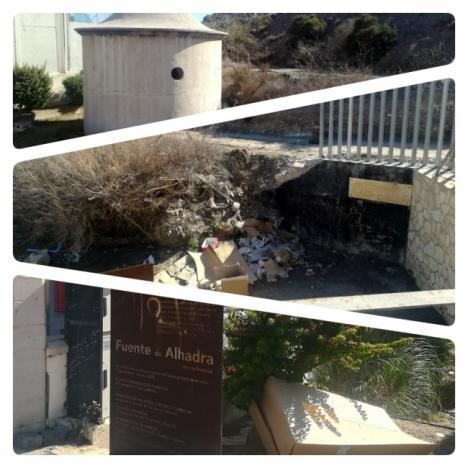 Abandonadas tras su rehabilitación las Fuentes de Alhadra