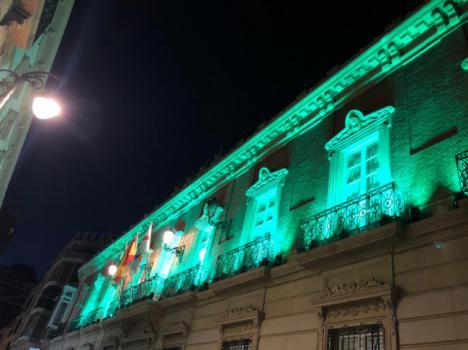 Diputación de verde en el Día Mundial de la Salud Mental