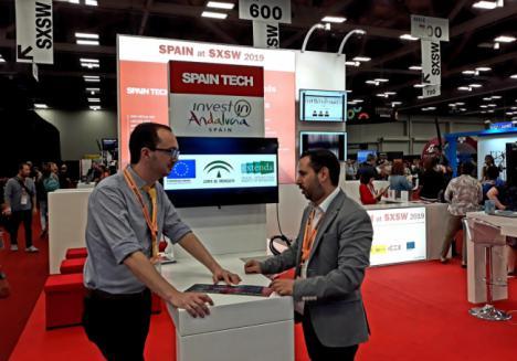 Una tecnológica almeriense en el Austin Convention Center de Texas