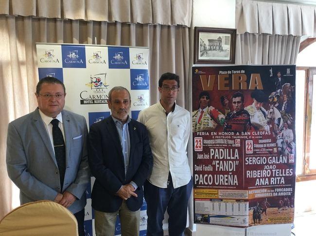 Vera presenta el cartel taurino de la Feria de San Cleofás