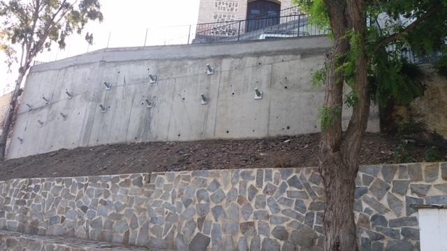 Diputacin culmina las obras de los muros de contencin de dos