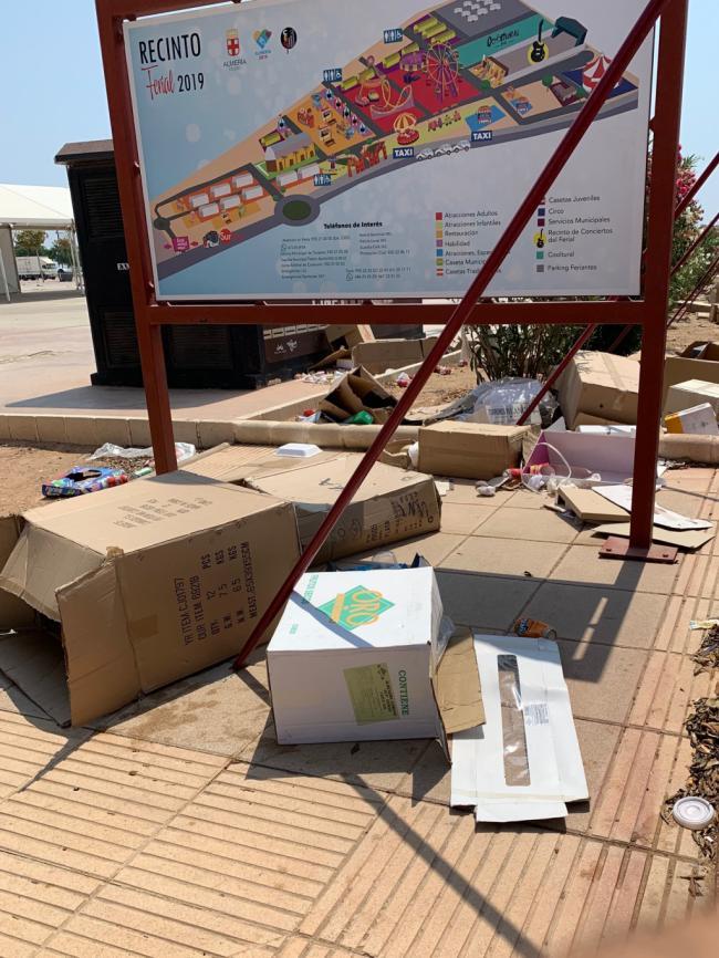 El PSOE critica que el recinto ferial sigue sucio