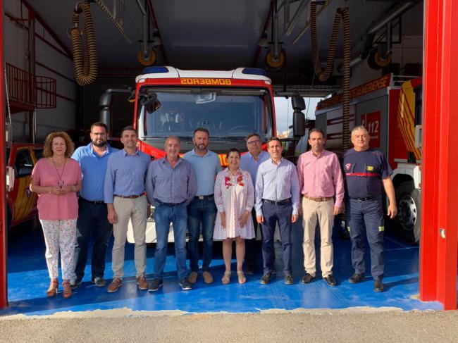 La alcaldesa de Mojácar al frente de los bomberos de Levante