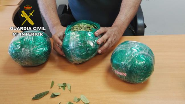 Intervenidos en el aeropuerto de Almería más de 3 kilos de hojas de coca
