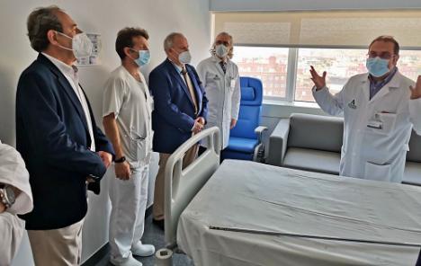 Torrecárdenas recibe al presidente del Colegio de Médicos de Almería