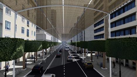 El Ayuntamiento inicia los trabajos para la instalación de la estructura y entoldado sobre el Paseo