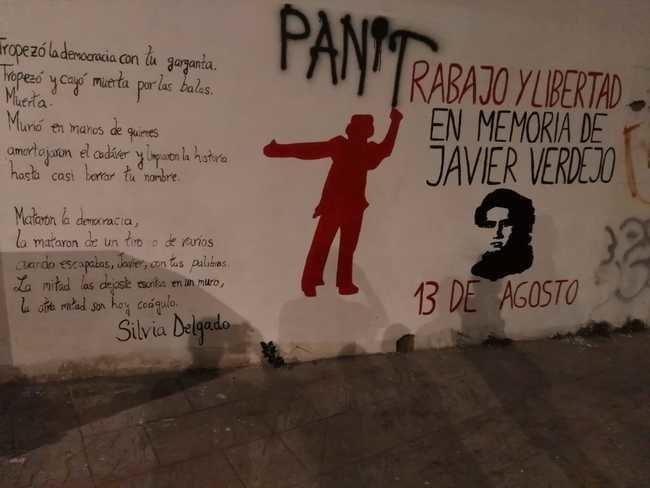 Un mural recuerda el asesinato de Javier Verdejo hace 42 años