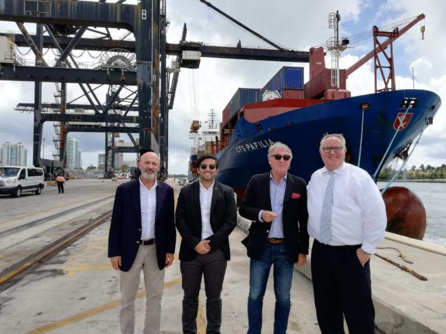 Caicedo visita el Puerto de Miami, el más importante del mundo en cruceros