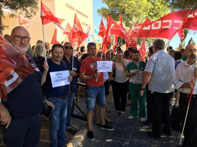 Protesta del personal de Prisiones en el día de su patrona